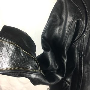 Harley Davidson Black Leather Riding Moto Jacket